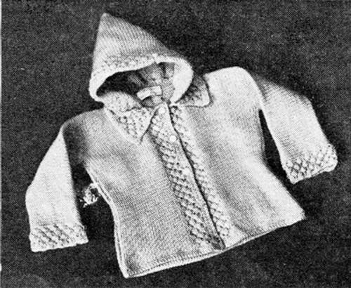 Knitted Baby Robin Hood Jacket Pattern
