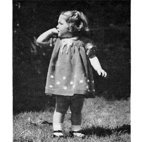 Toddlers Knitted Special Occasion Dress Pattern
