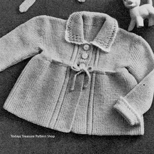 Baby Coat Knitting Pattern, Vintage 1940s
