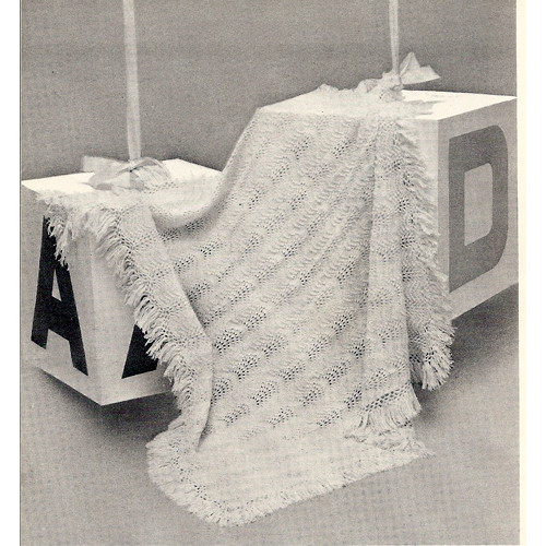 Vintage Knitted Baby Shawl Pattern