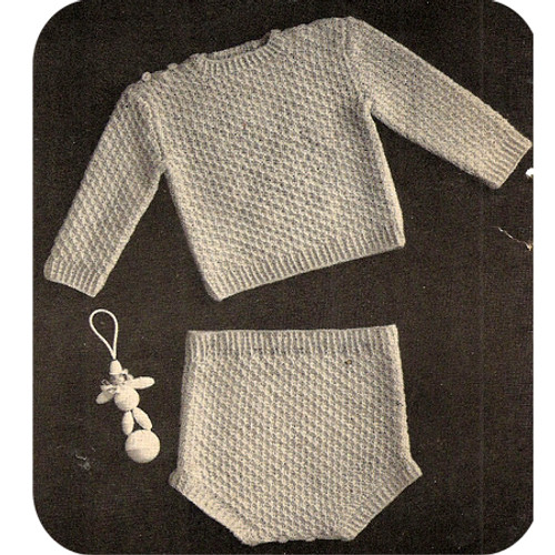 Two Piece Baby Creeper Knitting Pattern