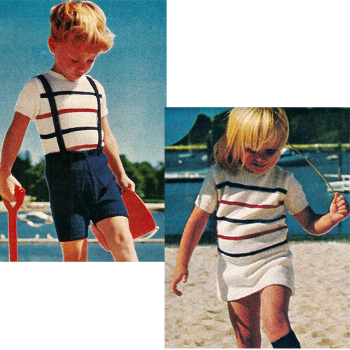 Knitting Pattern Toddler Striped Pullovers
