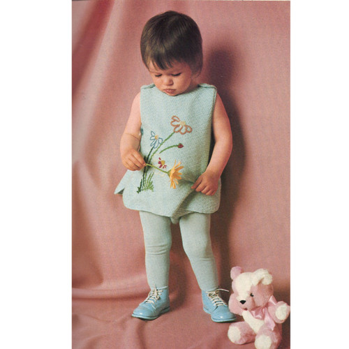 Knitting Pattern Baby Dress with Leggings