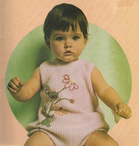 Baby Knitted Romper Pattern with Embroidery