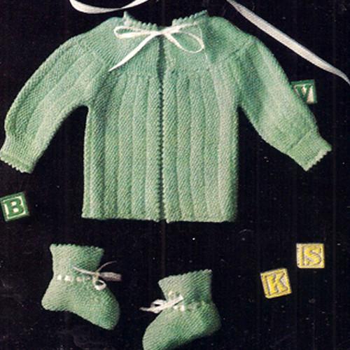 Vintage Knit Baby Layette Pattern in Seed Stitch