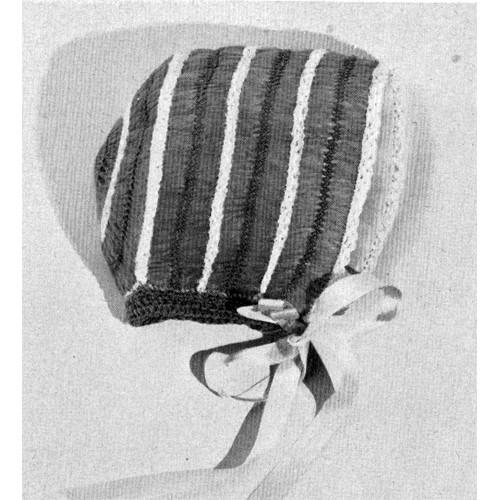 Vintage Hairpin Lace Baby Bonnet Pattern