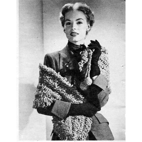 Vintage Poodle Stole Hairpin Lace Pattern