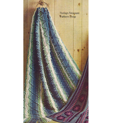 American Thread Hairpin Lace Afghan Pattern