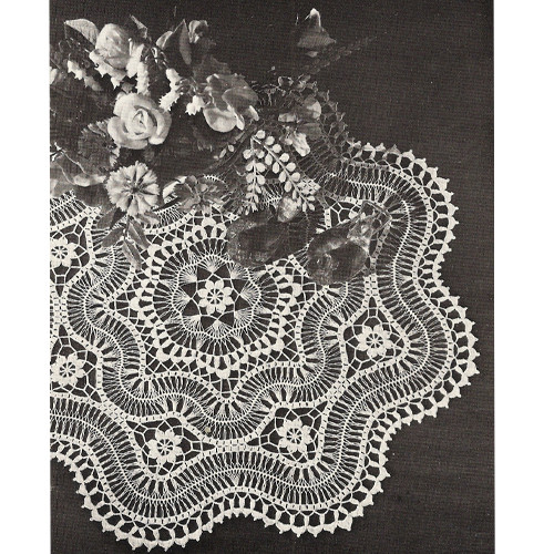 Hairpin Lace Doily with Scalloped Edges