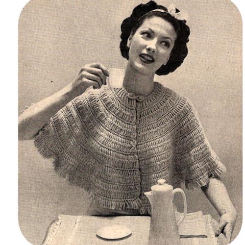 Vintage 1950's Hair Pin Lace Shawl Pattern