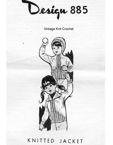 Childs cable Jacket Knitting Pattern Laura wheeler 885