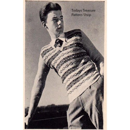 Boys Stripped Pullover Knitting Pattern