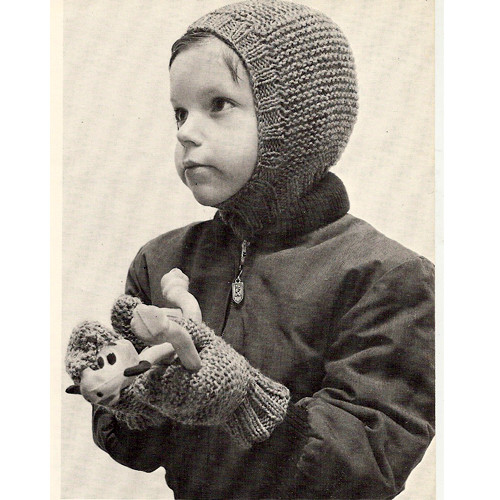 Knitting Pattern Kids Helmet and Mittens Pattern