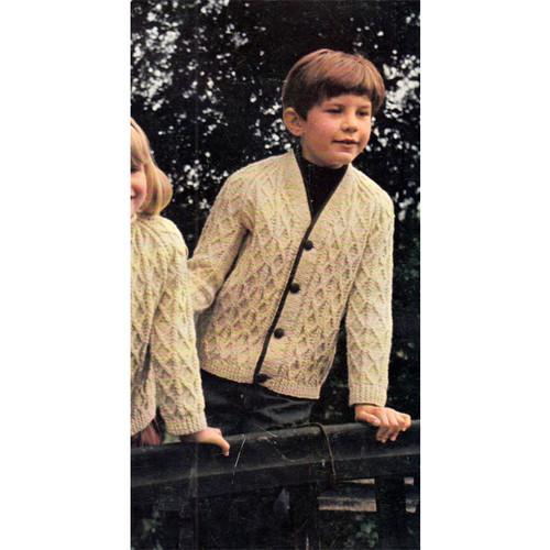 Childs Aran Cardigan Knitting Pattern
