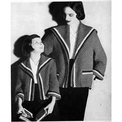 Girls Large Coat Coat Knitting pattern