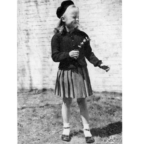 Knitting Pattern Girls Cardigan with Peplum