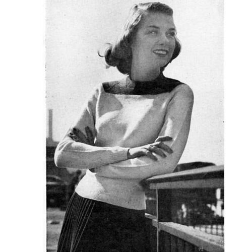 Vintage Raglan Sweater Knitting Pattern for Girls