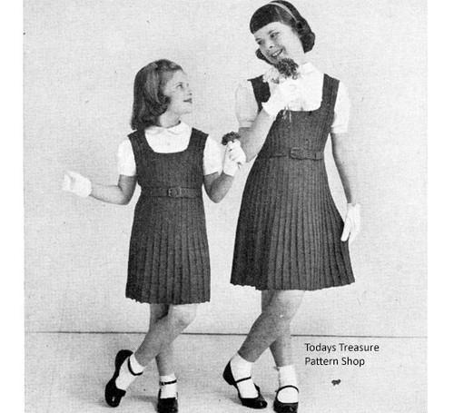 Knitting Pattern Girls Knitted Jumper Dress