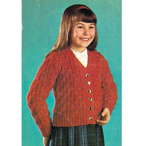 Girls Lattice Knit Cardigan Sweater Pattern