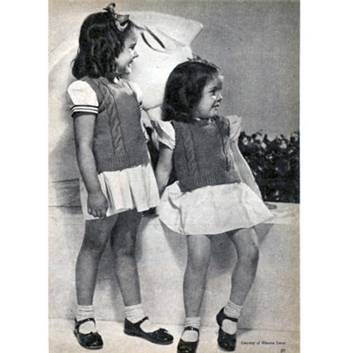 Girls Sleeveless Knitted Pullover Pattern