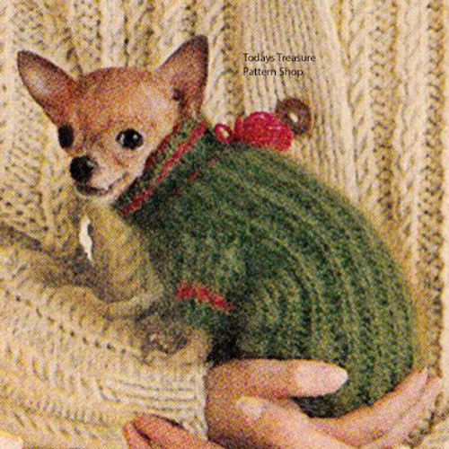 Small Dog Coat Knitting Pattern