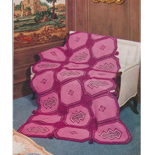 Pink Block Crochet Afghan Pattern