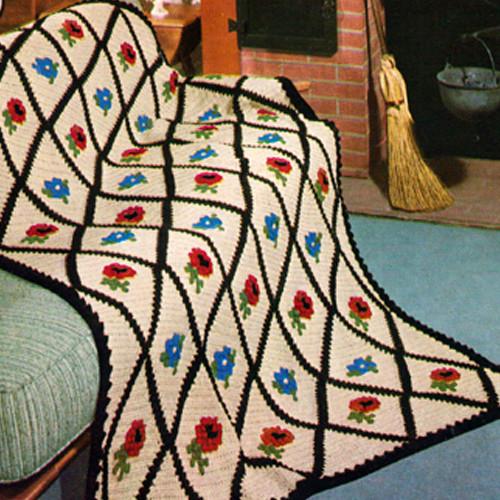 Vintage Crochet Pattern Mount Vernon Afghan