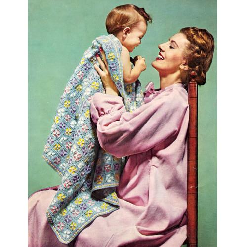 Lollipop Crochet Afghan Pattern or Baby Blanket