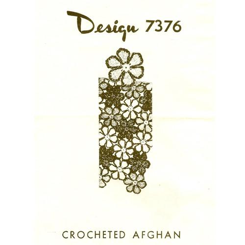 Daisy Crochet Afghan Pattern Design 7376