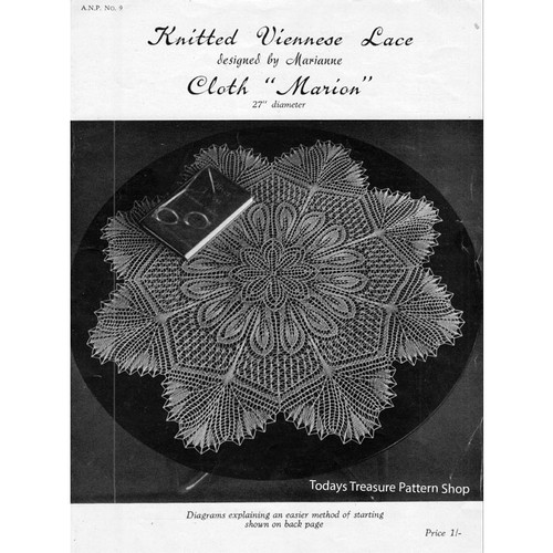 Viennese Lace Knitted Doily Pattern