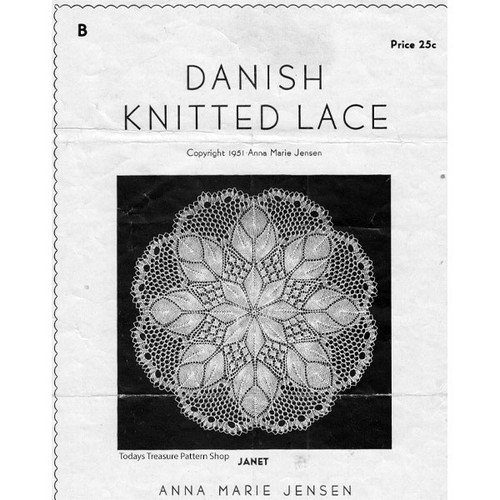 Janet, Danish Knitted Lace Doily Pattern