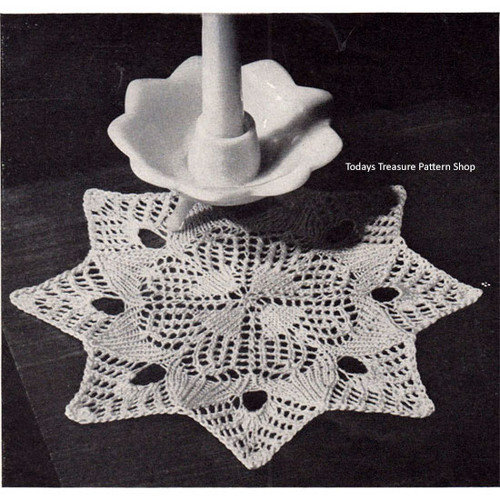 Starry Night Vintage Knitted Doily Pattern