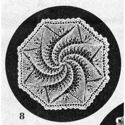 Octagon Doily Knitting Pattern, Vintage 1950s