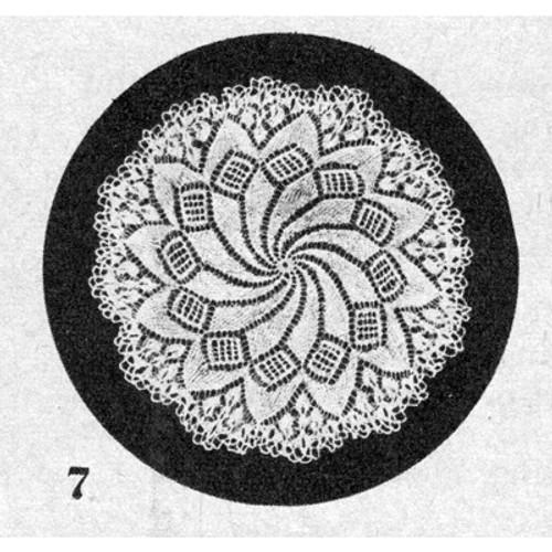 Vintage Knit Pinwheel Doily Pattern