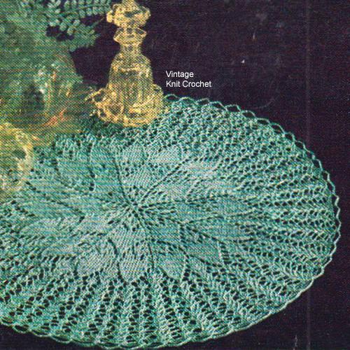 Knitted Doily Pattern, Sunburst Motif