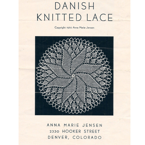 Danish Knitted Lace Crochet Doily Pattern