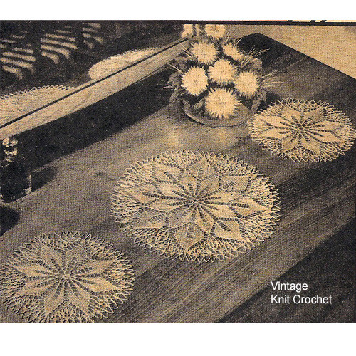 Knitted Flower Doily Pattern in Two Sizes