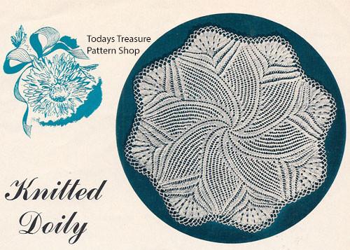 American Thread Doily Knitting Pattern in Pinwheel