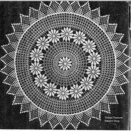 Vintage Daisy Ring Doily Crochet Pattern