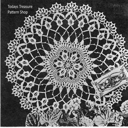 Lily Crocheted Flimy Flattery Doily Pattern