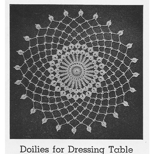 Spiderweb Mesh Crochet Doily Pattern from Lily Mills