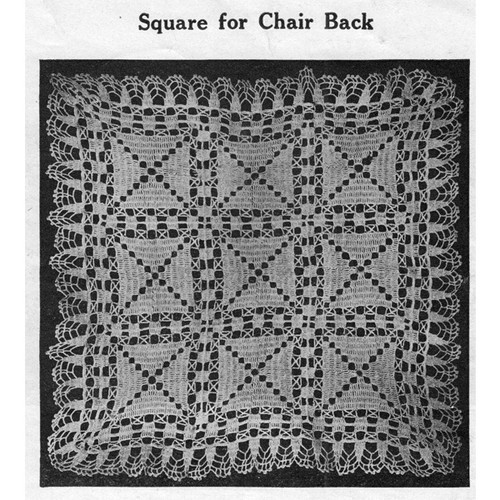 Chair Back Crochet Square Pattern