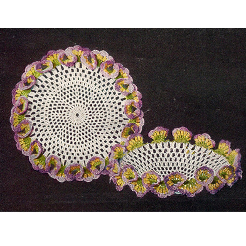 Crocheted Pansy Bowl Pattern