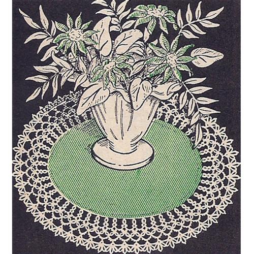 Workbasket Tatted Linen Doily Pattern
