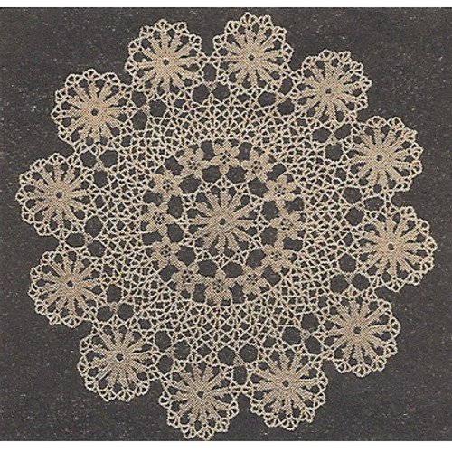 Workbasket Circle of Wheels Crochet Doily Pattern
