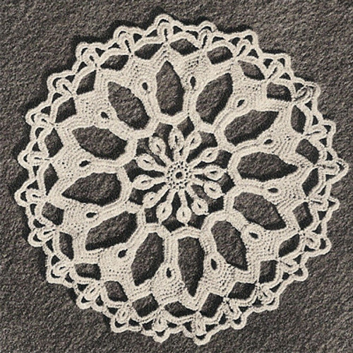Small Finger bowl Crocheted Doily Pattern