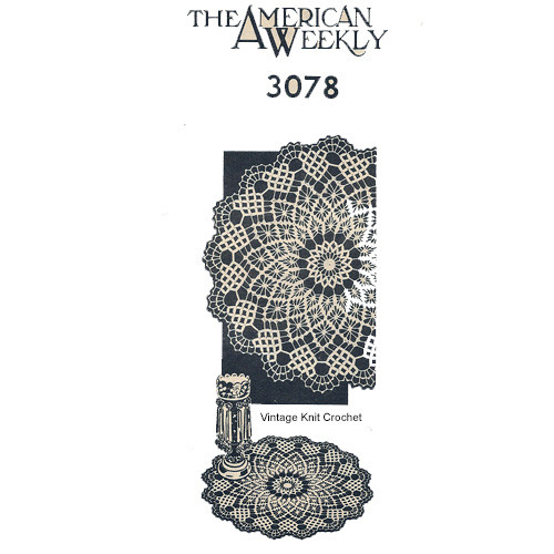 American Weekly Crochet Doily Pattern No 378