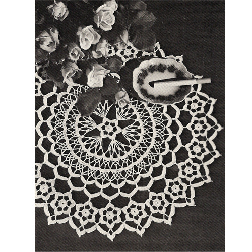Daisy Ring Crocheted Doily Pattern from Lily Mills