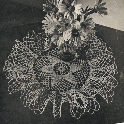 Vintage Ruffled Star Doily Crochet Pattern