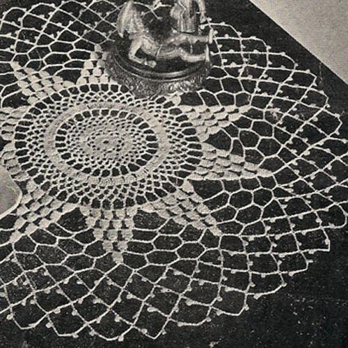 Star Mesh Crochet Doily Pattern